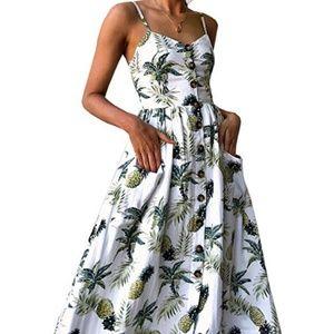 Dresses & Skirts - NWT Medium Women's Summer Tropical Midi Dress